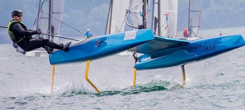 F1x Hydrofoiling Catamaran Hydrofoil Dna Performance Sailing